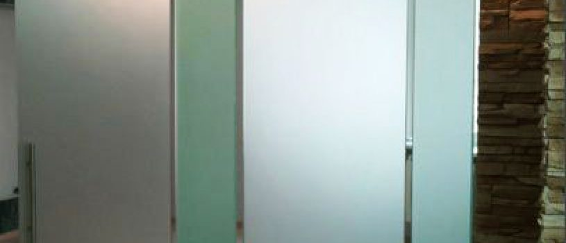 Стеклянные дверь гармошка в Алматы: Изготовление и установка