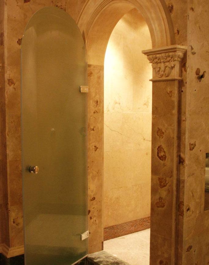 Стеклянные двери для хамама: Цена изделия