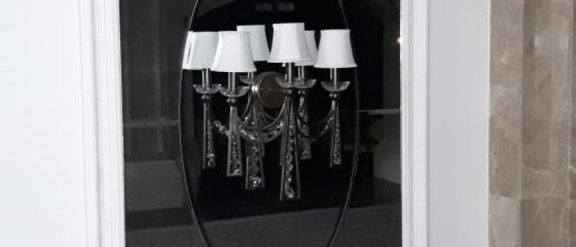 Гравировка на зеркале: зеркала с орнаментным рисунком