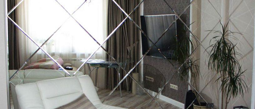Купить зеркало в Алматы, изготовление зеркал на заказ, резка, дизайн