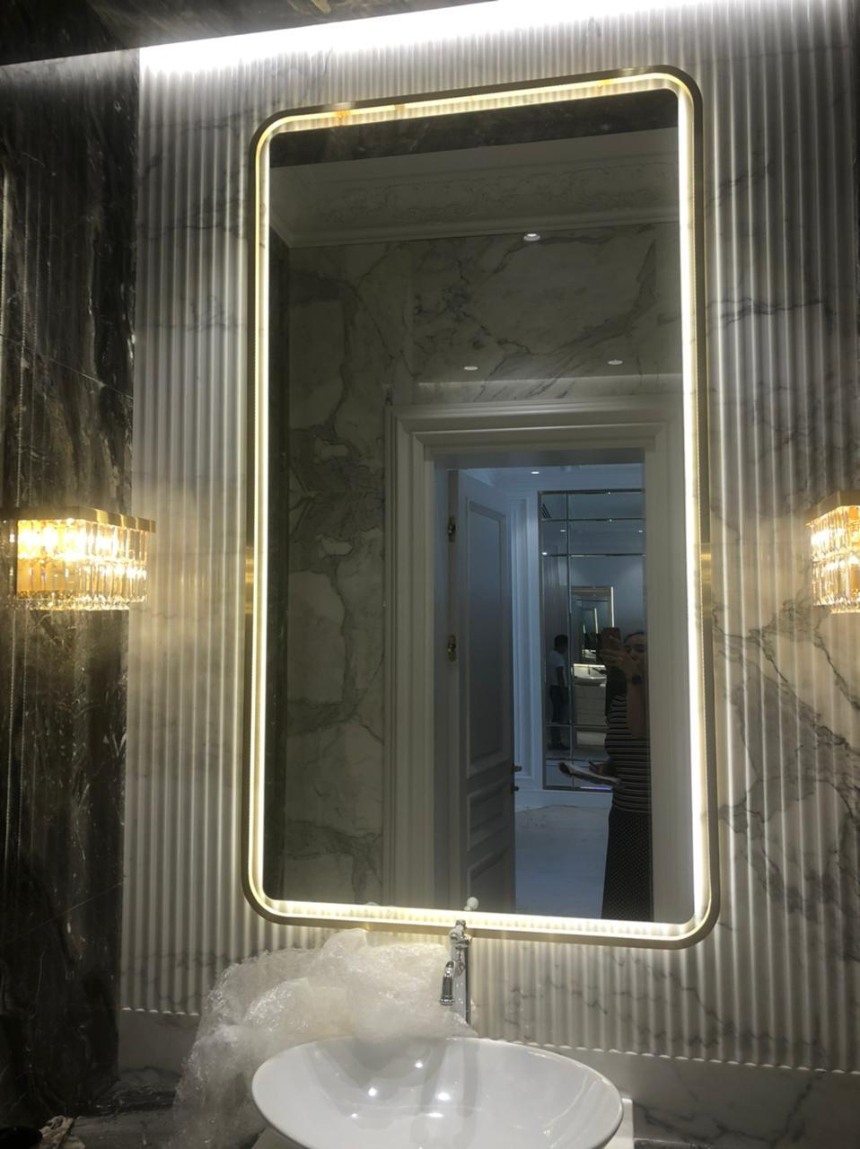 Рамы для зеркал из латуни и нержавеющей стали на заказ в Алматы